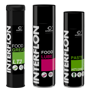 Interflon Food Lube, HT1200, and Grease LT2