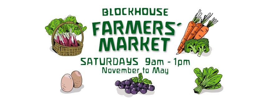 blockhouse farmer's market logo